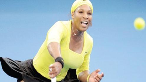 Serena routs Safarova to win first title of 2012