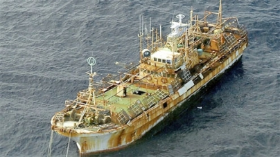 US Coast Guard sinks tsunami 'ghost ship'