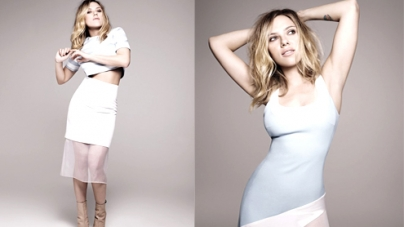 Scarlett Johansson poses to show reason for playing the role of Janet Leigh