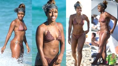 Alexandra Burke shows off her gorgeous bikini body on holiday in Miami