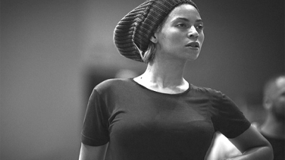 Beyonce Rocks Out A Clingy Black And White Onesie During Rehearsal