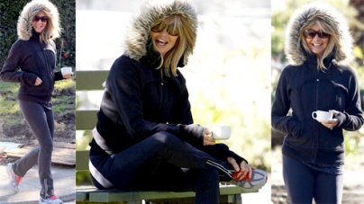 Super Fit Goldie Hawn Holds Coffee Cup On Hollywood Hills Hike