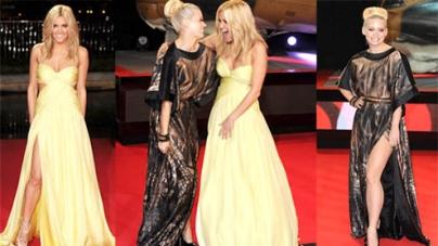Ashley Roberts And Kimberly Wyatt Show Off Dramatic Dresses