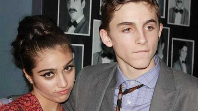 Lourdes Leon and new boyfriend Timothée Chalamet on stage school production