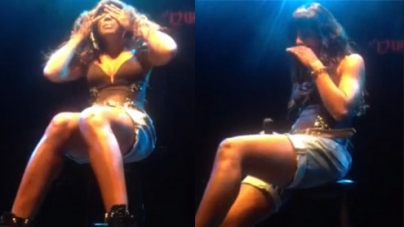Kelly Rowland breaks down during onstage rendition of new ballad Dirty Laundry