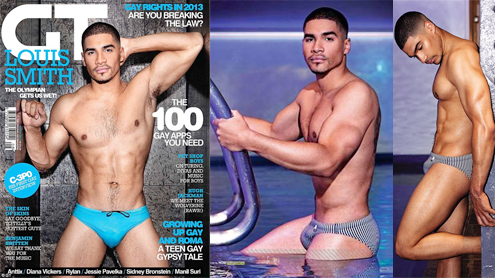 Louis Smith shows off his gymnast physique in Gay Times
