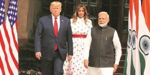 TRUMP'S VISIT INDIA