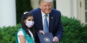 Trump Lauds Pakistani-American Girl Scout as 'Coronavirus Hero'
