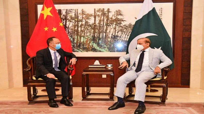 Shehbaz Sharif meets Chinese, British envoys in Islamabad